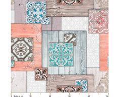 Anro Alfombra de pasillo de cocina, alfombra de cocina con diseño antideslizante, 100% PVC., Aspecto de madera y baldosas., 120x52cm