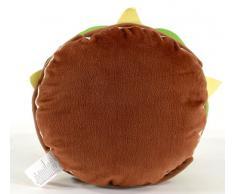 United Labels 0110072 Los Simpson - Cojín con diseño de hamburguesa (31 x 12 cm)