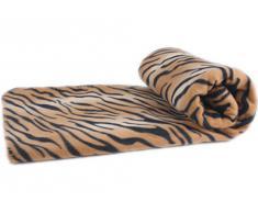 Manta de lana de lujo Tigre tamaño: 140 x 190 cm, calidad 220 g / m²