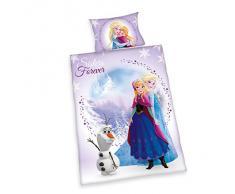 Frozen - Juego de cama infantil de franela multicolor, algodón, multicolor, 100 x 135 cm