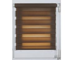 Prakto 2179 - Estor doble (plástico, 72 x 150 cm), color marrón
