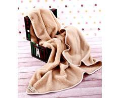 Manta de 100% pura lana Merina 550gsm, 200/200cm Cálido y Natural Certificada por Woolmark. Muy suave y confortable.