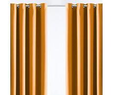 Today 257183 cortina opaca efecto golpeado poliéster vendimia de Orange 140/260