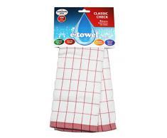e-cloth E-Towel Trapo de Cocina, diseño de Cuadros, Color Rojo