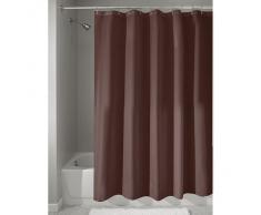 InterDesign 14687EU - Cortina para ducha de tela anti-hongos e hidrófuga, 180 x 200 cm, color chocolate