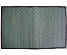 Gelco Design 703588 Bahia - Alfombrilla de baño (pequeñas láminas de bambú, 60 x 90 cm), color azul