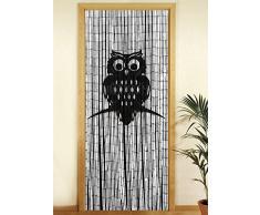 Wenko 819112500 bambú cortina búho, bambú, multicolor, 200 x 90 x 0.2 cm