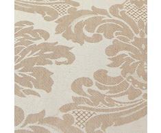Just Contempo - Cortinas forradas (plisadas, con lazos traseros), diseño de jacquard, poliéster, beige, 2 cortinas 117 x 229 cm