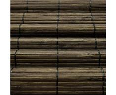 Victoria M. - Persiana de bambú para Interiores, marrón Oscuro, tamaño: 60 x 160 cm