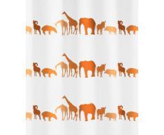 Kleine Wolke Textil Meusch 2359454305 Zoo - Cortina de ducha (180 x 200 cm), diseño de animales, color naranja