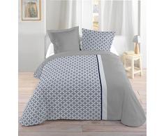 Lovely Casa HP31282001 Geoffrey Juego de ropa de cama (algodón, 240 x 220 cm), multicolor