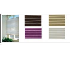 Plegable – Estor plisado persiana (Protección Solar Color Marfil 100 cm ancho x 160 cm de largo