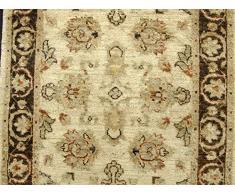 Alfombra de lana hechos a mano Camino de Agra, blanco, 77 x 309 cm, 60,96 cm 15,24 cm X cm 304,8 5,08 cm (M)