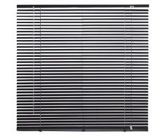 Persiana veneciana de aluminio color negro Intensions., aluminio, negro, 100x175cm