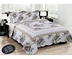 ForenTex- Colcha Boutí reversible, (LE-2626), cama 150 cm, 240 x 260 cm, Estampada cosida, Primavera, colcha barata, set de cama, ropa de cama. Por cada 2 colchas o mantas paga solo un envío (o colcha y manta), descuento equivalente