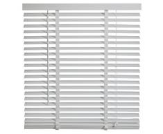 Intensions Persiana veneciana de madera, color blanco, madera, Chalk White, 60x130cm