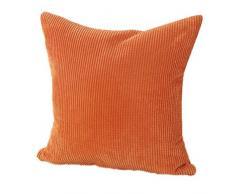 Fundas De Cojines,Xinantime Almohada decorativa de la pana de algodón Cojín Multicolor (Naranja)