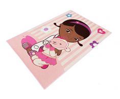 Associated Weavers 616991 - Alfombra, diseño de Doctora Juguetes con Lambie (poliamida, 133 x 97 x 1 cm), color rosa