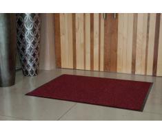 Tapetes Baratos de Barrera para Entrada y Pasillo de Uso Rudo Lavables Antiderrapantes Suelo de Goma Pequeños y Medianos Color Rojo y Negro