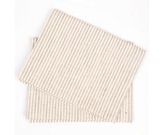LinenMe Paños de cocina Jazz de lino y algodón. Juego de 2. Color beige. 47 x 70 cm.