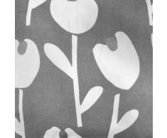 Fusion Cortinas Forradas con Ojales, 100% algodón, Color Gris, 117 x 137 cm