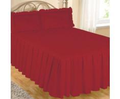 Colcha de Algodón Egipcio de Lujo para Cama Tamaño Doble - 100% Algodón Egipcio, Rojo