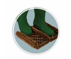 William Armes 2487000 - Felpudo de fibra de coco natural para botas, 35 x 30 cm