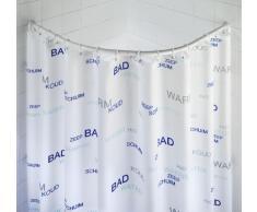 Wenko 19219100 - Riel curvo de aluminio para cortina de ducha, color blanco