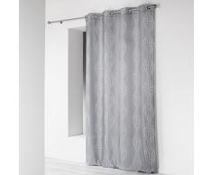 Douceur dIntérieur – Cortina con ojales de poliéster 140 x 260 cm., cerámica, gris, 140x1x260 cm