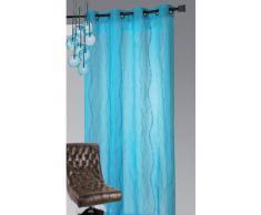 Homemaison 807782 - Persiana enrollable y estor, poliéster de 140 x 240cm, color azul