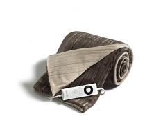 IMETEC Relaxy TH-01 - Manta eléctrica de sofá, 150 W, microfibra, 150 x 90 cm, color marrón y beige