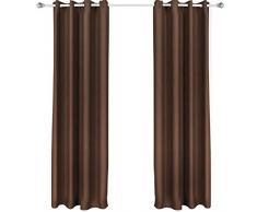Songmics 2 piezas Cortina opaca con ojales 145 x 245 cm Chocolate LRB245K-2