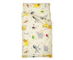 Kindertraum 520055005511 - Juego de cama infantil, diseño de animales, 40/60 y 100/135 cm