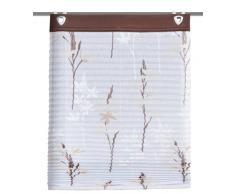 Home Fashion 91243-611 - Estor plisado (con ganchos, estructura de lino, 140 x 45 cm), diseño estampado