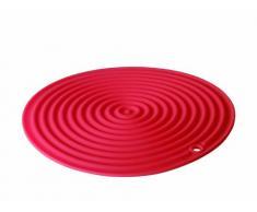 Lacor 66751 - Tapete silicona redondo, 20 centímetros de diámetro, rojo
