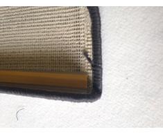 Para los escalones coprigradino Gafas gris moqueta Alfombra Escalera de bayoneta, 64 x 24 cm