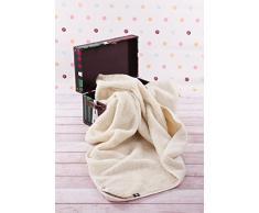 Manta de 100% pura lana Merina 550gsm, 250/200cm Cálido y Natural Certificada por Woolmark. Muy suave y confortable.