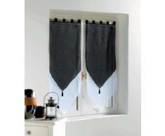 Douceur DIntérieur 1620389 - Douceur dIntérieur - Cortinas con acabado triangular, color Blanco/Negro, talla 2 x 60 x 12 x 60 cm