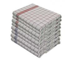 Lote de paños de cocina (10 unidades, 100% algodón, 50 x 70 cm)