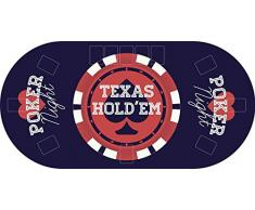 "Tapete Poker Antideslizante Oval ""Texas hold´em"" azul PVC 200 cm x 100 cm | Tapete poker mesa PVC | Tapete vinilico para mesas | Poker ""Texas hold´em"" azul"