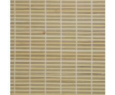 Liedeco – Persiana veneciana de madera para ventana y puerta, madera, natural, 120 cm x 170 cm (B x L)
