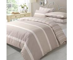 Funda nórdica reversible con funda de almohada, funda de edredón cama individual, diseño natural Eve