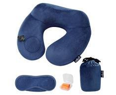 vidaXL Almohada de Embarazo con Forma de J 54x43cm Azul Relax Maternidad Beb/é