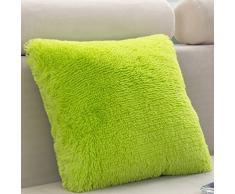 nikgic pura Color almohada Super Suave Peluche Cojín Caso para Home Coffee Shop Hotel decorativo 45 x 45 cm (No se incluye almohada interior), verde, 43*43cm
