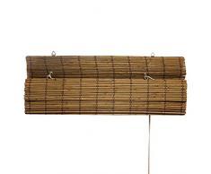 Victoria M - Persiana de bambú para interiores, color marrón, tamaño: 120 x 160 cm