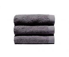 Home Basic - Juego de 3 toallas para tocador, 33 x 50 cm, lavabo, 50 x 100 cm y baño, 100 x 150 cm, color gris