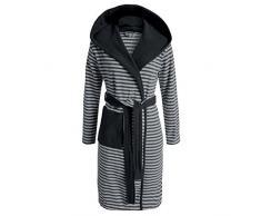 Esprit Albornoz Striped Antracita con capucha rayas, mezcla de algodón, antracita, large