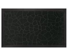 Deco Tapis - 1740254, Tapete De Entrada Rectangulo , 45 X 75 Cm , Galets , Alfombra De Entrada , Negro