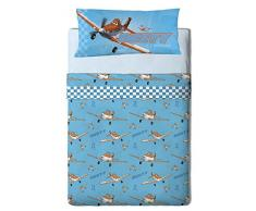 Cotton Disney Minnie Blue Skirt Juego S/ábanas de 3 Piezas para Cama 105