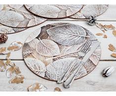 Tapas creativas de helado de hojas de corcho-Back itcentre manteles redondos, 4 unidades